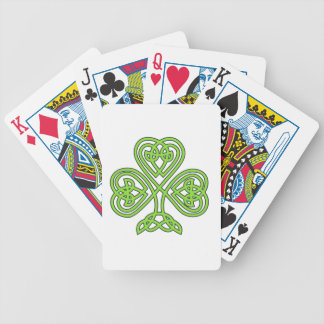 Trébol irlandés afortunado verde de lujo baraja