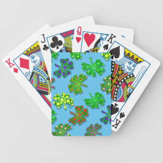 trébol irlandés exótico de la hoja de los tréboles baraja cartas de poker