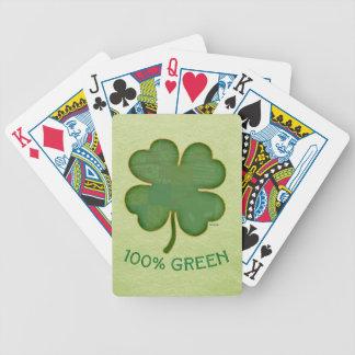 Trébol irlandés - verde del 100% barajas de cartas