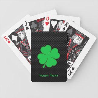 Trébol liso baraja de cartas