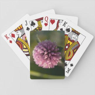 Trébol rojo cartas de póquer
