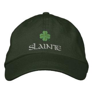 Trébol slainte St Patrick irlandés Gorra Bordada