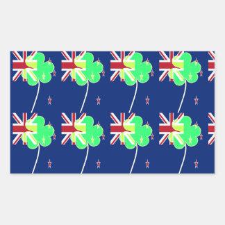Trébol St Patrick del trébol de la bandera de Pegatina Rectangular