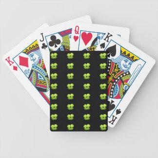 Trébol verde baraja cartas de poker