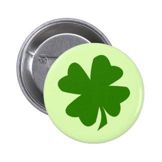 Trébol verde St Patrick afortunado de la hoja del  Chapa Redonda De 5 Cm