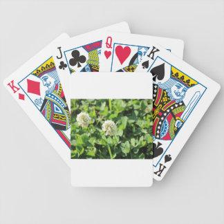 Trébol y flores pinta 2 baraja de cartas bicycle