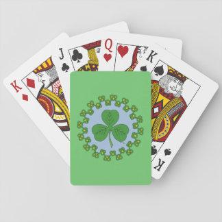 Trébol y Knotwork Baraja De Póquer