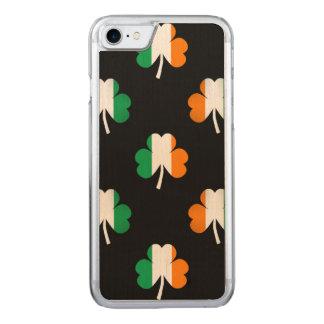 Tréboles Bandera-Verdes/blancos/de color naranja Funda Para iPhone 7 De Carved