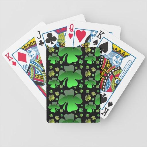 Tréboles brillantes cartas de juego