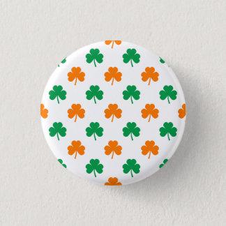 Tréboles en forma de corazón verdes anaranjados en chapa redonda de 2,5 cm