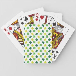 Tréboles irlandeses baraja de cartas