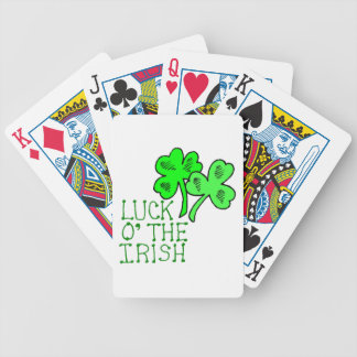 Tréboles irlandeses baraja de cartas bicycle