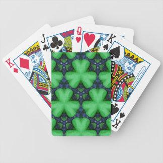 Tréboles irlandeses verdes baraja de cartas bicycle