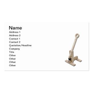 Trebuchet de madera plantilla de tarjeta de negocio