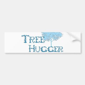 TreeHugger con el árbol Pegatina Para Coche