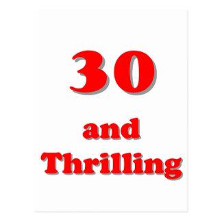 Treinta y cumpleaños chistoso de la edad que postal