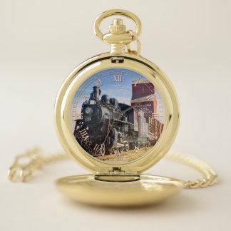 Tren 1 y reloj de bolsillo numérico de la opción