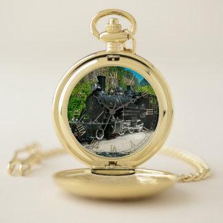 Tren 8 y reloj de bolsillo numérico de la opción