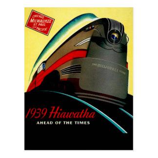 Tren aerodinamizado Hiawatha del vintage Postal