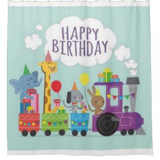 Tren animal lindo del feliz cumpleaños