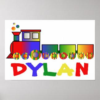Tren colorido personalizado póster