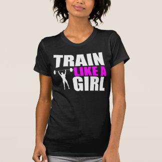 Tren como un chica - camiseta apta de la élite de