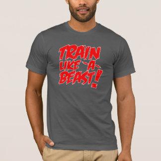 Tren como una bestia camiseta
