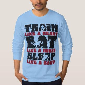 Tren como una bestia - gimnasio y motivación de la camisas