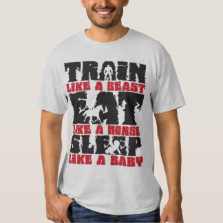 Tren como una bestia - gimnasio y motivación de la camiseta