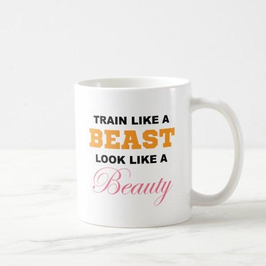 Tren como una bestia taza de café