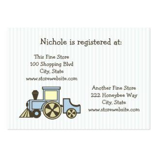 Tren de la tarjeta del registro de la fiesta de bi tarjeta de visita