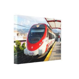 Tren de Renfe en la estación del Los Boliches Cos Lona Estirada Galerías