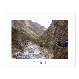 Tren del carril del inca a la postal del blanco de