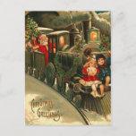 Tren del navidad de Papá Noel del vintage