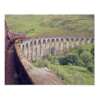 Tren del vapor en Glenfinnan Fotografía