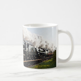 Tren del vapor taza de café