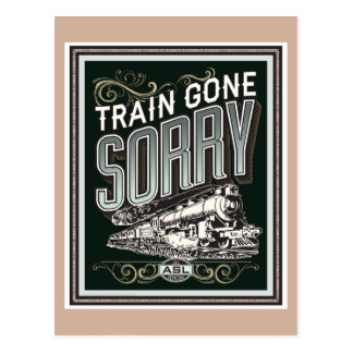 Tren ido triste. una postal