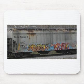 Tren marcado con etiqueta alfombrilla de ratón