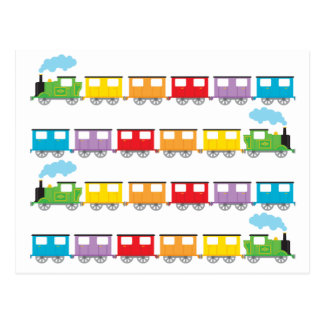 Tren y carros postal