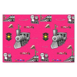 Trenes decorativos del papel seda