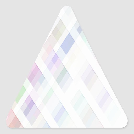 Trenzas reconstruidas calcomanías triangulos personalizadas