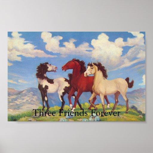 Tres amigos para siempre impresiones