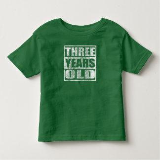 Tres años - 3ro camiseta feliz del cumpleaños