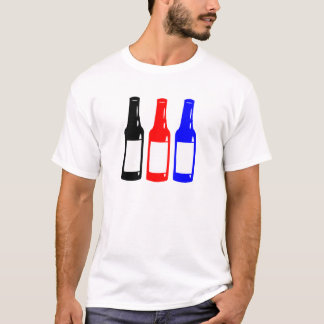 Tres cervezas camiseta
