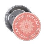 Tres citas de la palabra ~Believe le Can~ Pins