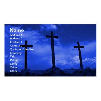 Tres cruces de arte cristiano de la tarjeta de vis tarjetas de visita
