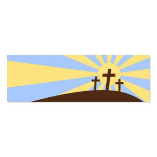 Tres cruces tarjetas de visita mini