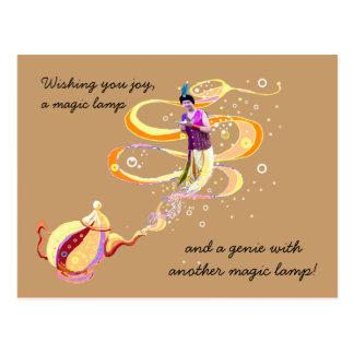 Tres deseos mágicos postal