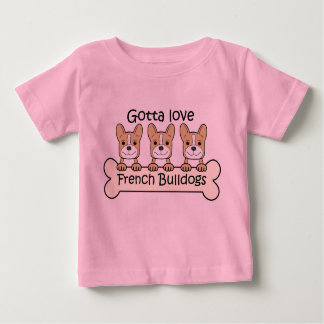 Tres dogos franceses camisetas