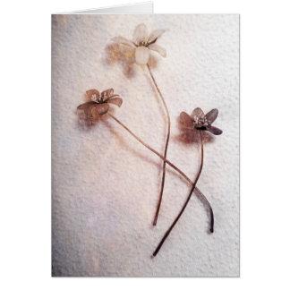 Tres flores - tarjeta de felicitación simple